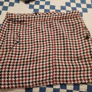 Houndstooth Red and Black Skirt from Target